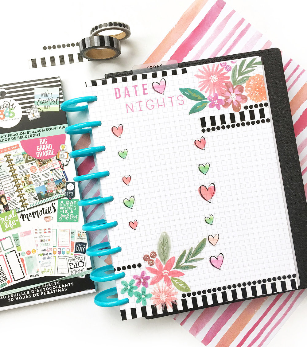 DIY 'Date Night Bucket List' Using Happy Planner® Grid