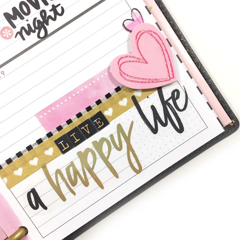 Valentine's week MINI 'Happy Blooms' Happy Planner® by mambi Design Team member Jen Randall | me & my BIG ideas