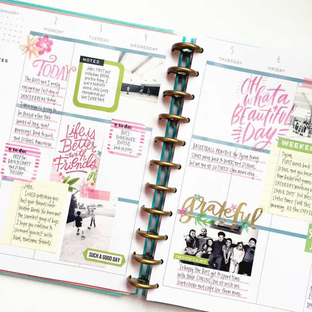Three weeks worth of memory planned pages in the big for Happy planner ideas