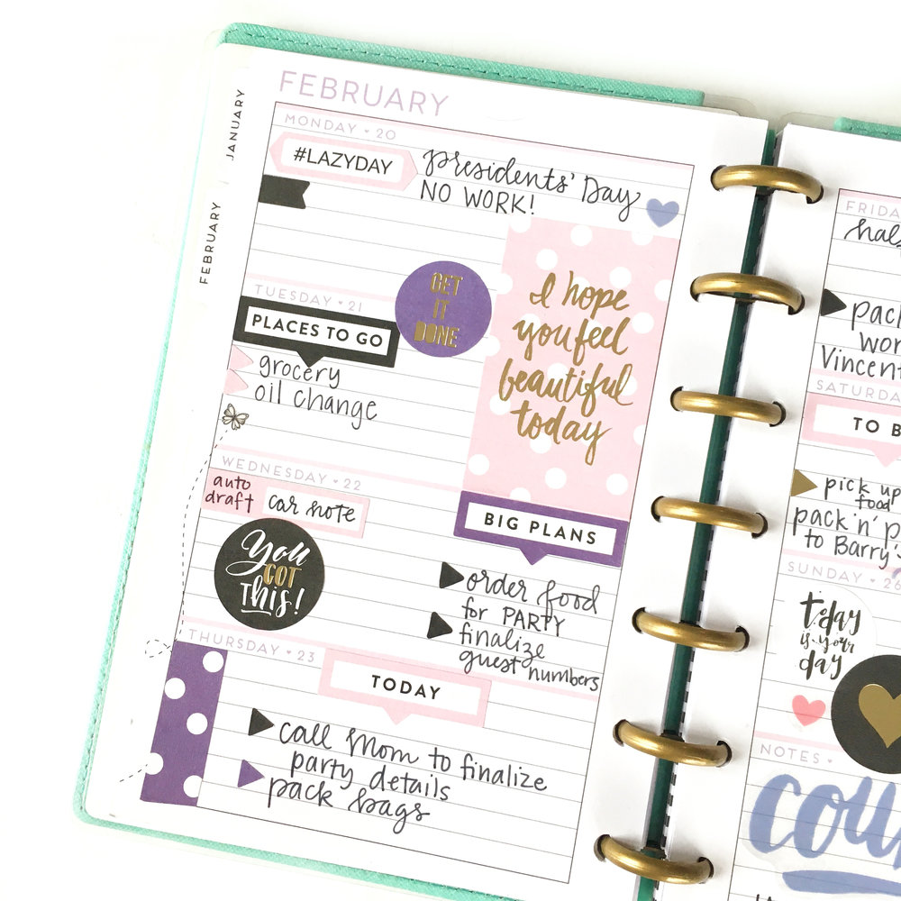 the 'Today is Your Day' sticker value pack + the MINI 'Super Fun' Happy Planner® by mambi Design Team member Gretchen Klobucar | me & my BIG ideas