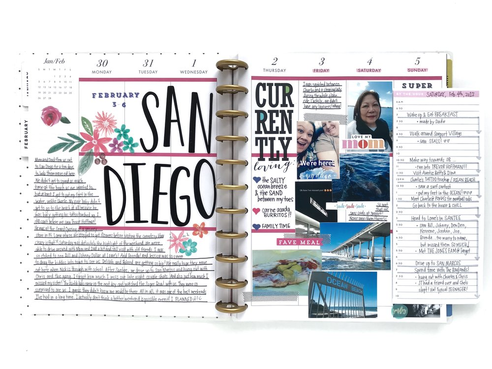 memory planning in the BIG Happy Planner® w/ a flip-out Daily Sheet by mambi Design Team member Michelle Weissert | me & my BIG ideas