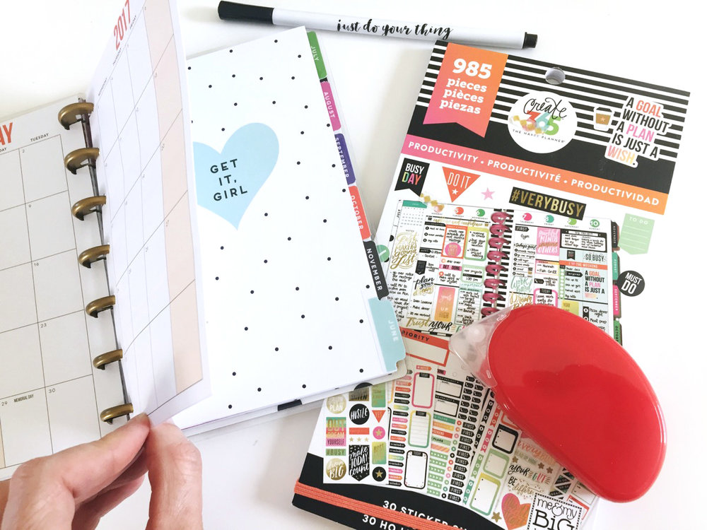 'Make It Me' MINI Happy Planner® by mambi Design Team member Jen Randall | me & my BIG ideas