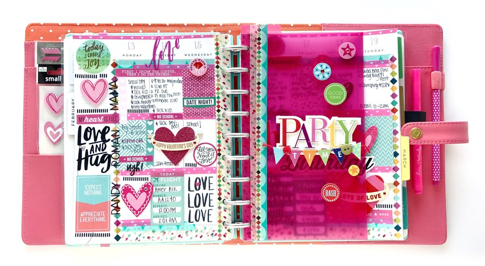COORDINATE WITH YOUR PAGES USING HAPPY PLANNER® ACCESSORIES by mambi Design Team member Mary-Ann Maldonado | me & my BIG ideas