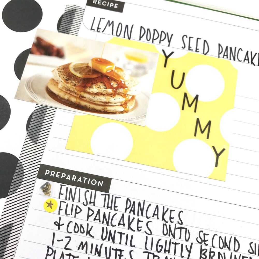 Lemon Poppyseed Pancakes in The Happy Planner® Recipe Organizer by mambi Design Team member Liz Nielson | me & my BIG ideas
