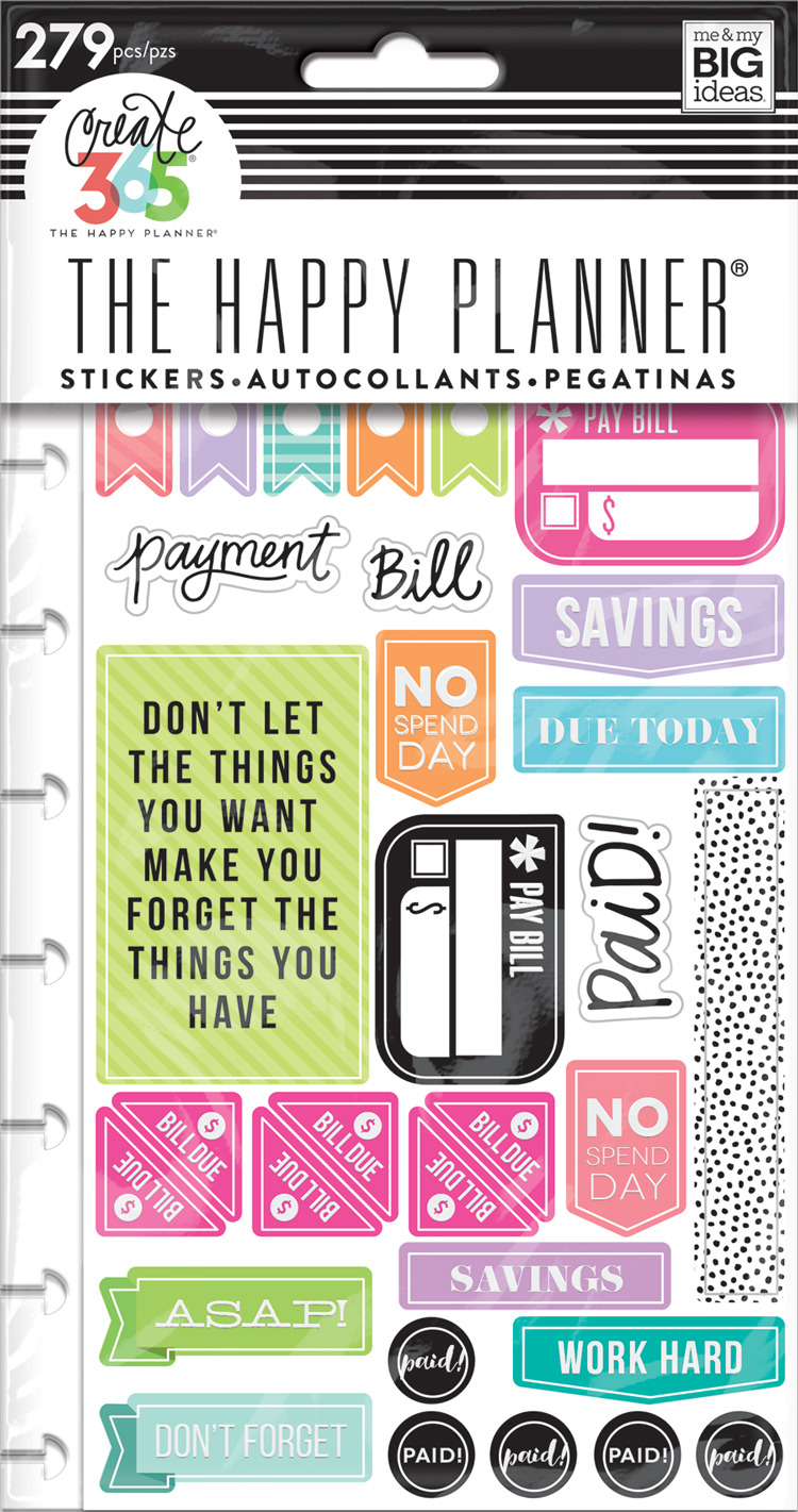 Planner stickers get paid me my big ideas