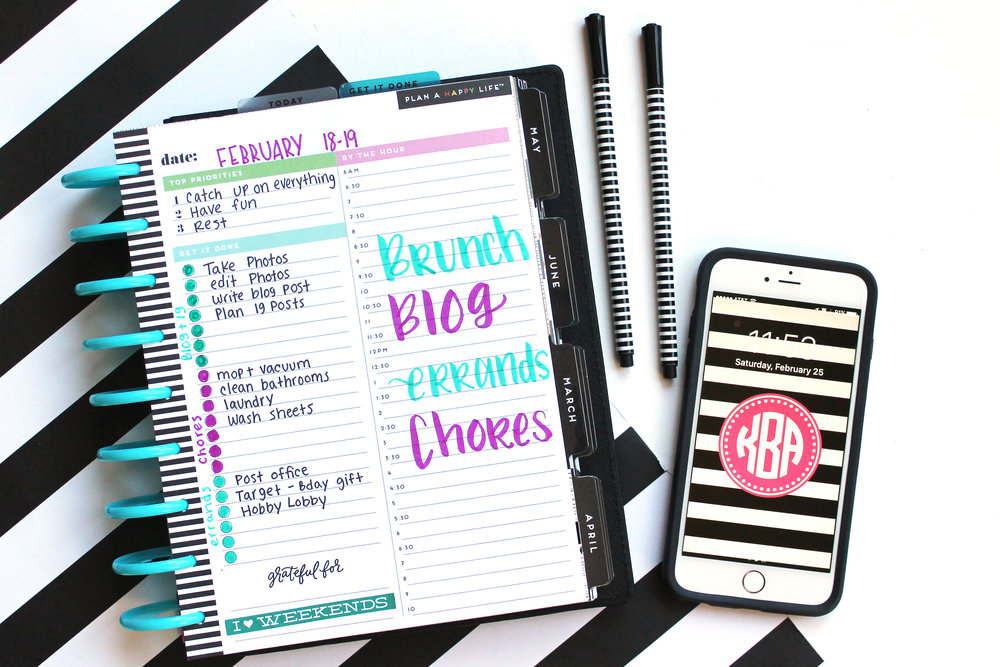 two ways to fill out a Happy Planner® Daily Sheet by mambi Design Team member Katie Barton | me & my BIG ideas