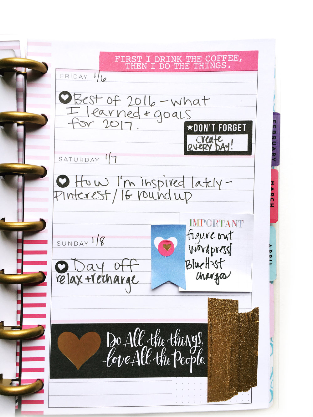 using a MINI Happy Planner® as a social media planner by mambi Design Team member Stephanie Howell | me & my BIG ideas