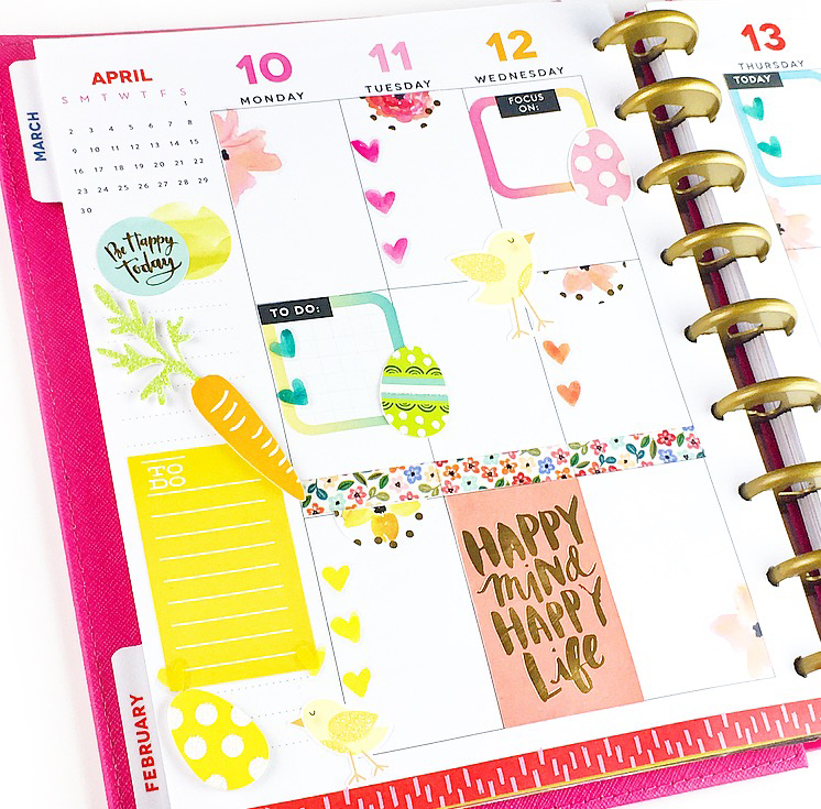 Easter week in the CLASSIC 'Be Bright' Happy Planner® of mambi Design Team member Nita Patterson | me & my BIG ideas