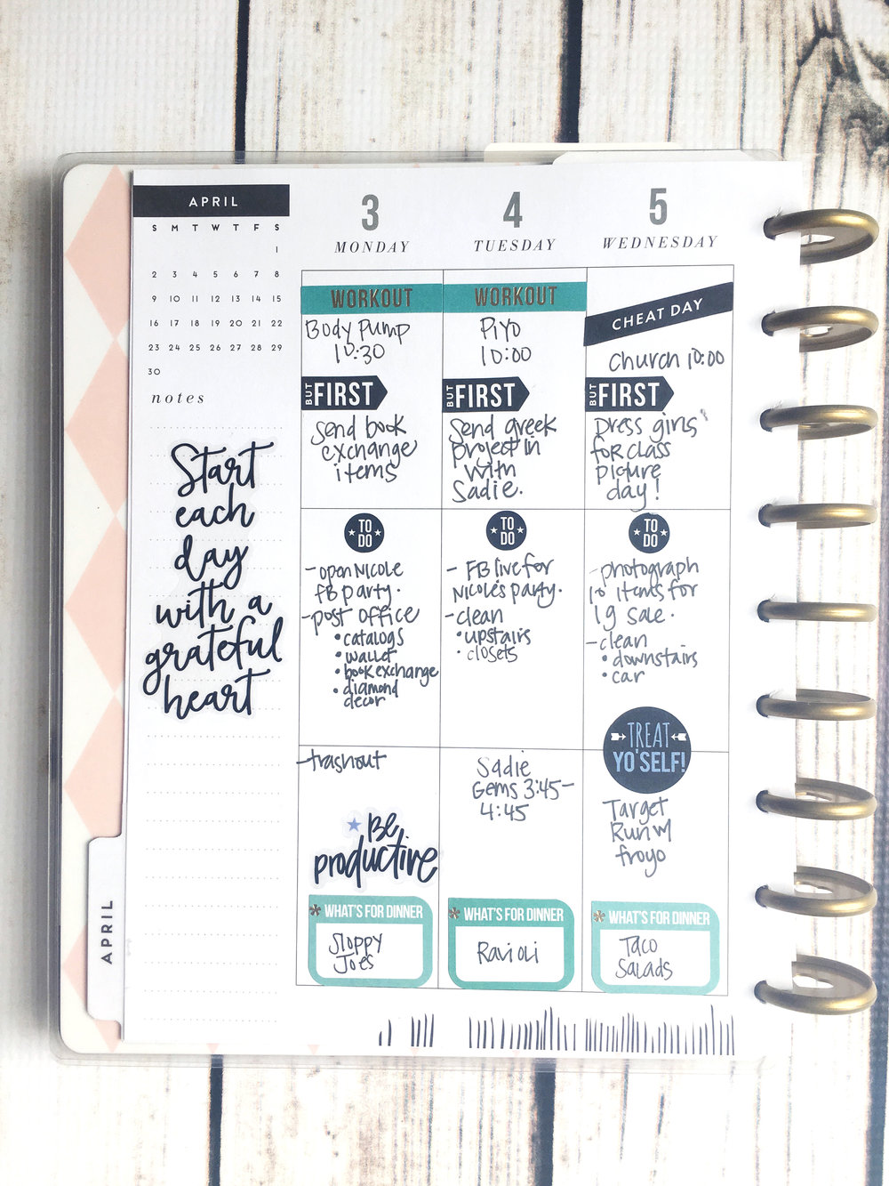 focused and functional planning in the CLASSIC 'This is Your Year' Happy Planner® by mambi Design Team member Stephanie Howell | me & my BIG ideas