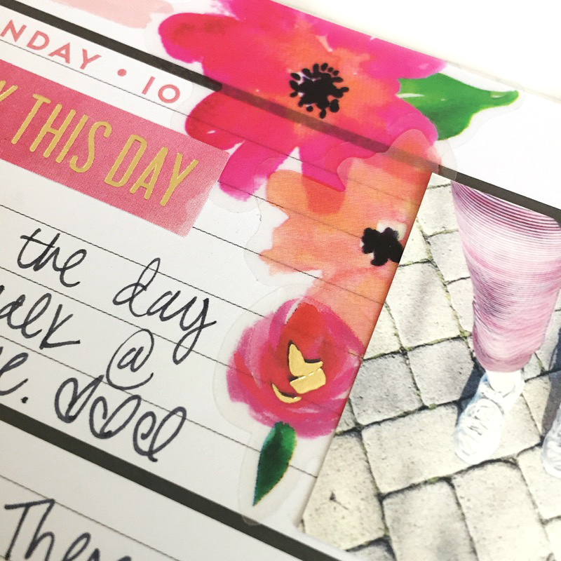 memory keeping in the MINI 'Happy Blooms' Happy Planner® by mambi Design Team member Jen Randall | me & my BIG ideas