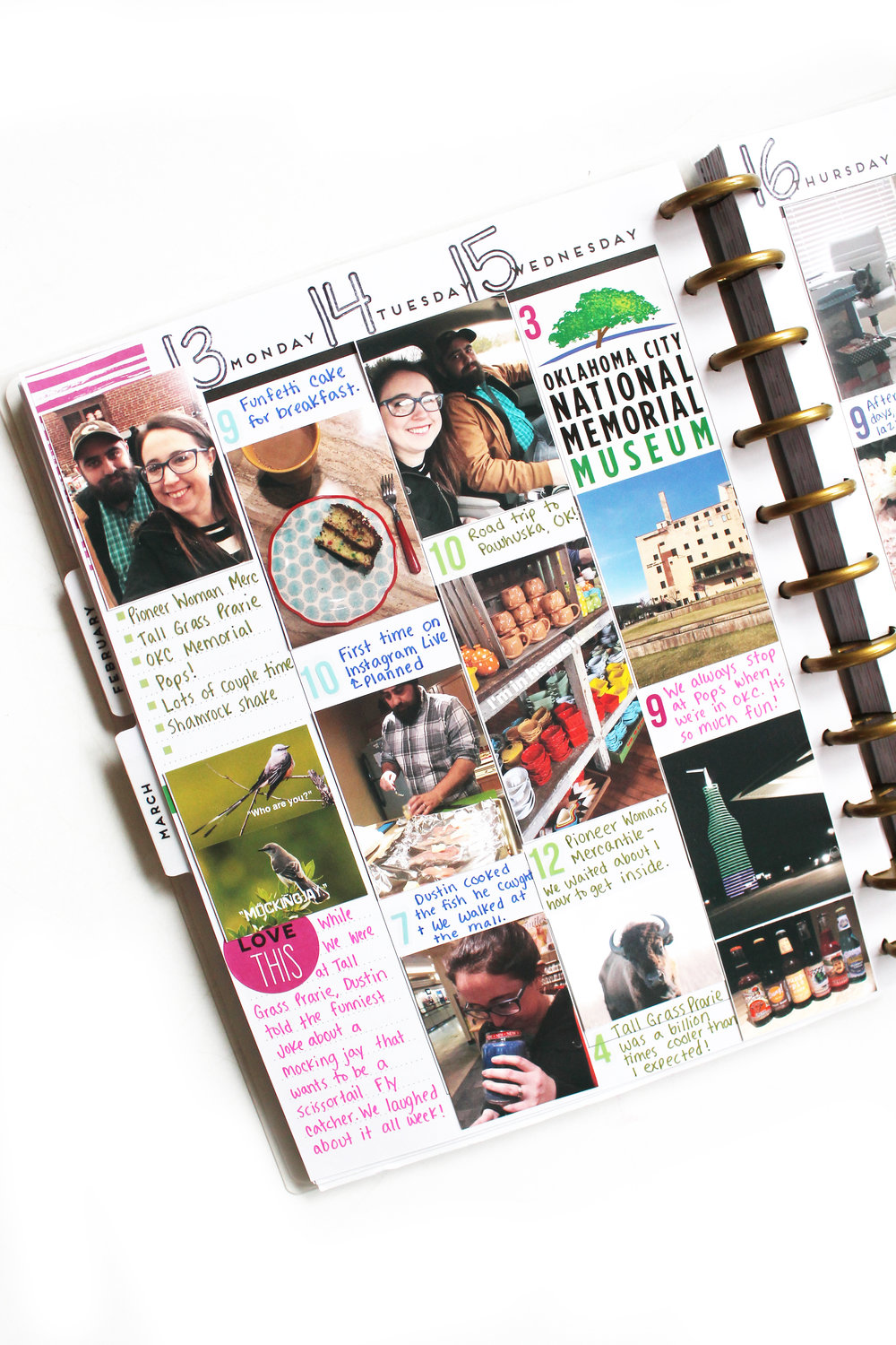 Memory Keeping Spring Break in the BIG Happy Planner® by mambi Design Team member Katie Barton | me & my BIG ideas