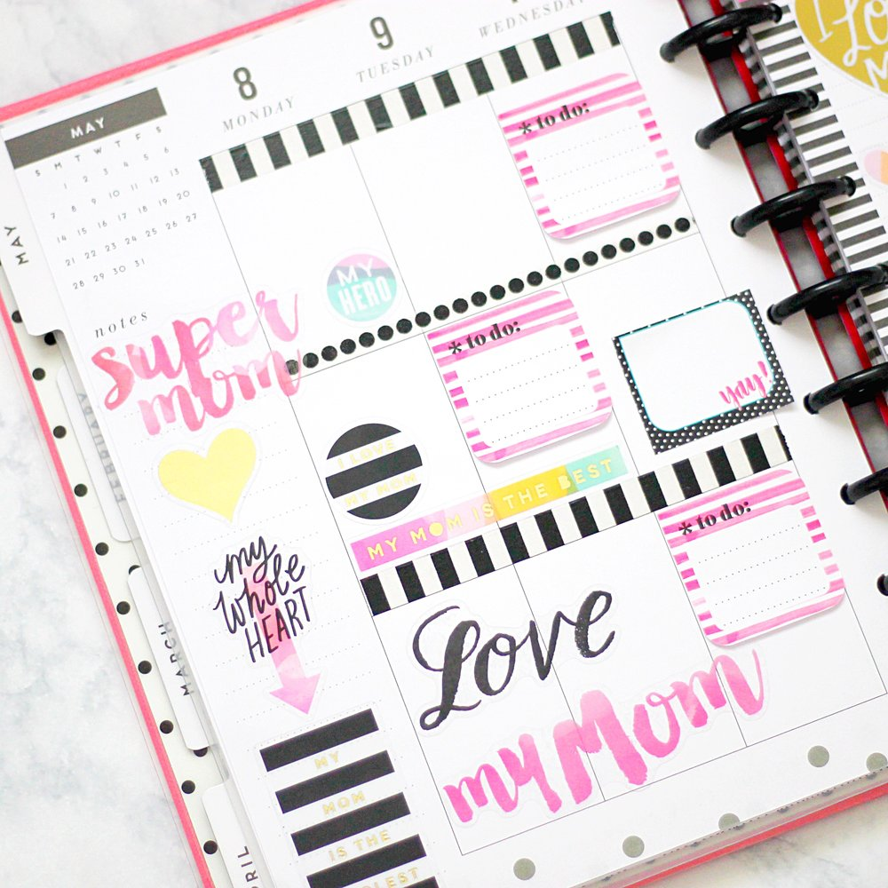 mother 39 s day week beforethepen in the happy planner w mom themed mambisticks stickers me. Black Bedroom Furniture Sets. Home Design Ideas