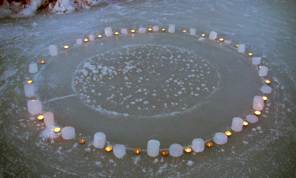 Frozen Creek Mandala 4 of 5 (at dusk)
