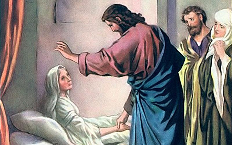 Jesús sana a la suegra de Pedro