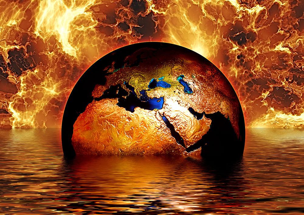 Foto gratis de Tierra sumergida en agua y fuego