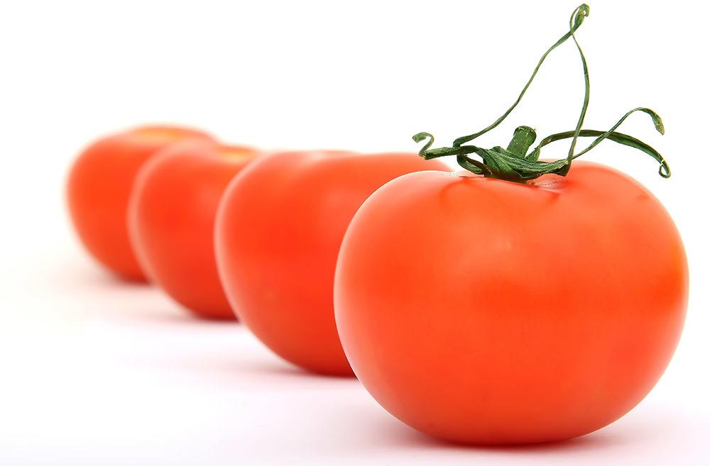 Foto gratis de tomates rojos en fila
