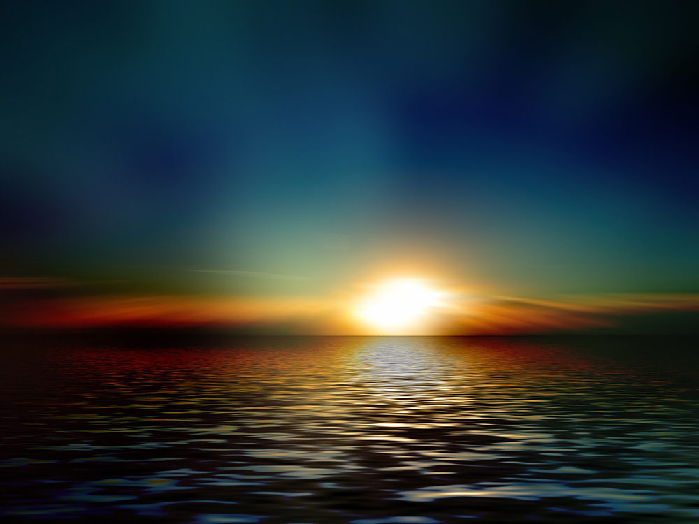 Foto gratis de ocaso del sol en océano