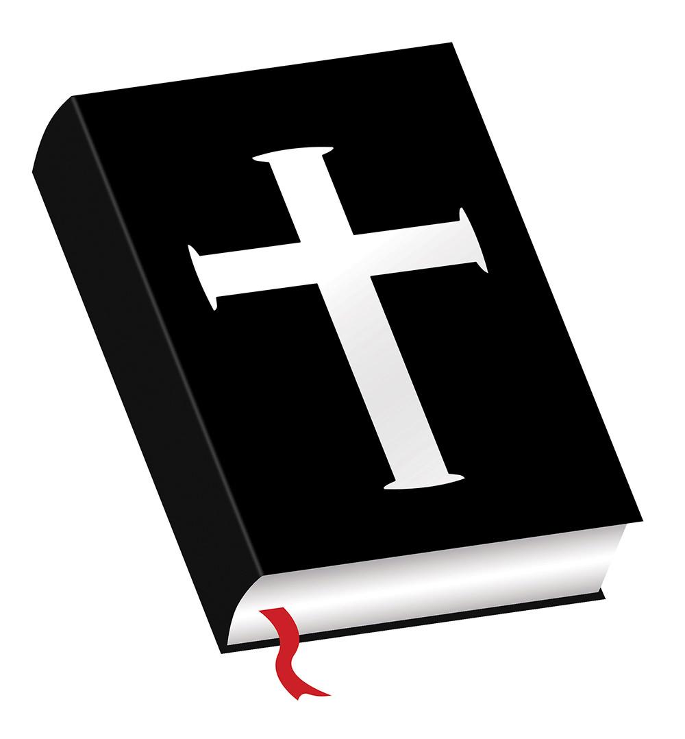 Ilustración gratuita de Biblia con cruz en el centro