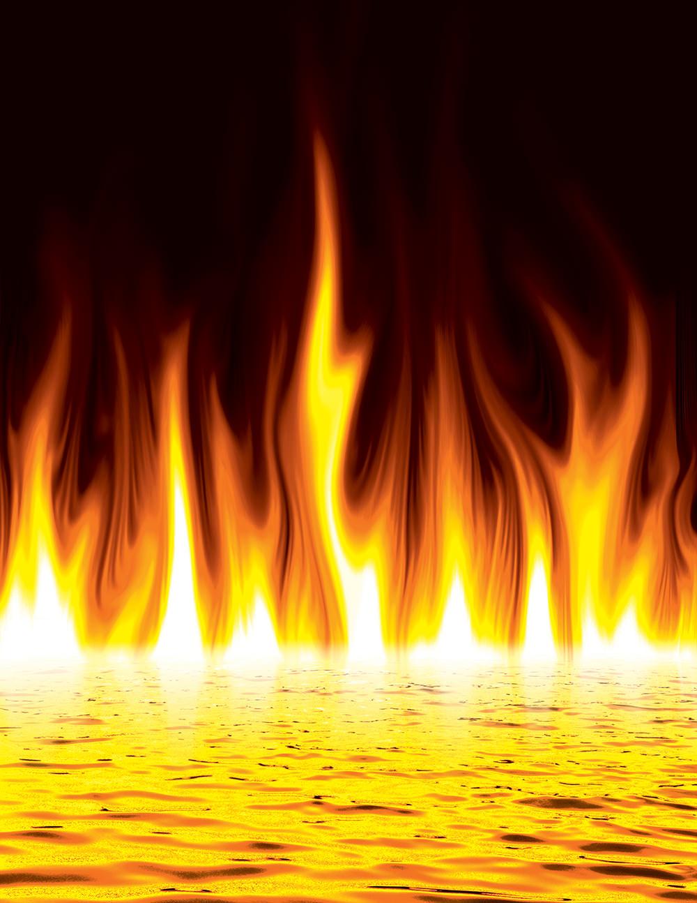 Ilustración gratis del lago de fuego del infierno
