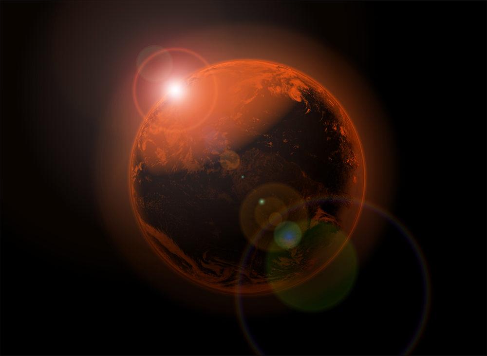 Ilustración gratis de planeta rojo
