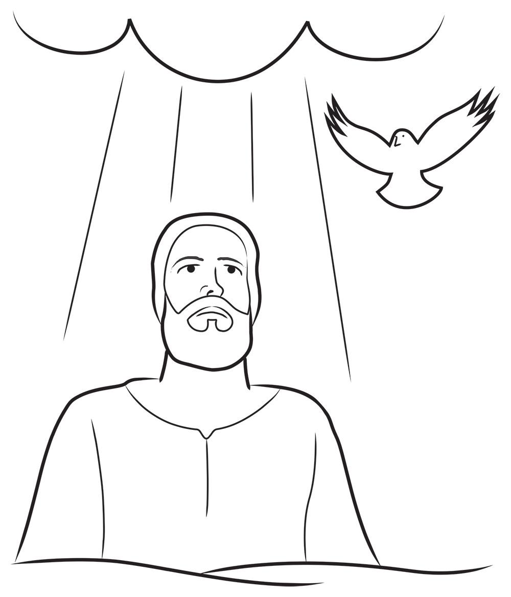 Ilustración gratis de bautismo de Jesús