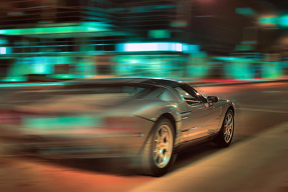 Foto gratis de auto a gran velocidad
