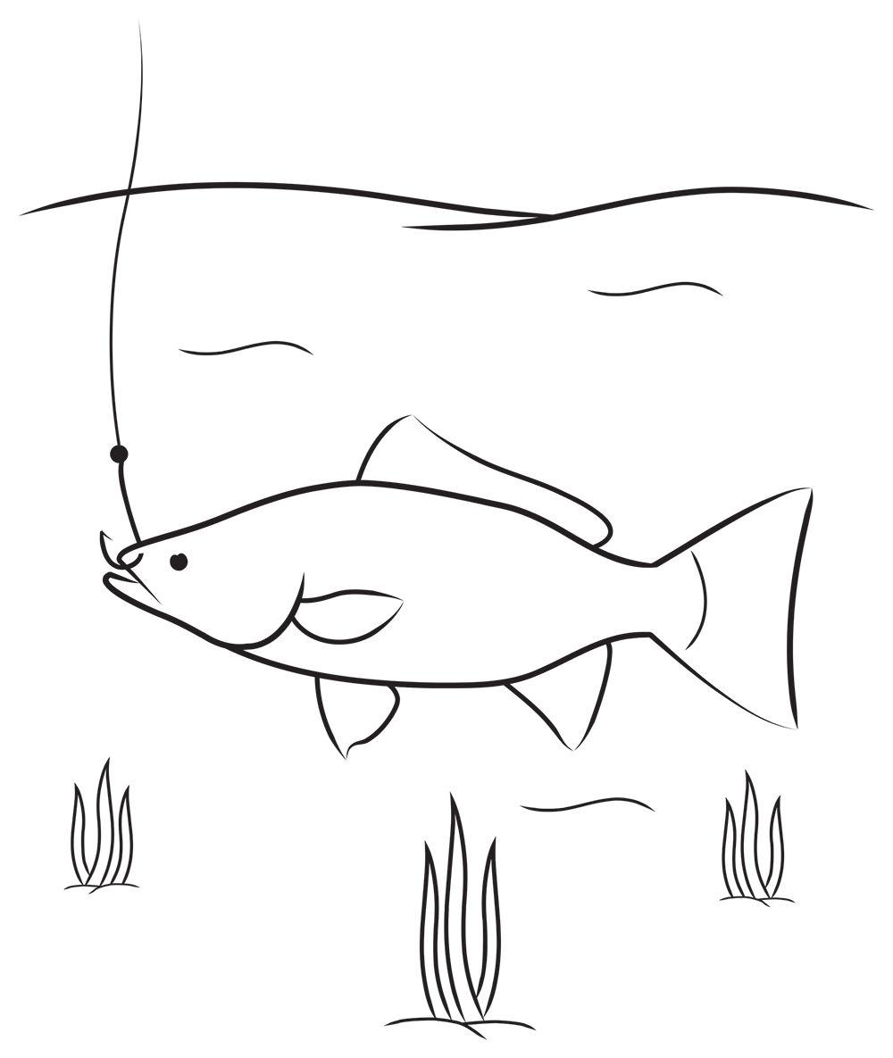 Ilustración gratis pez en el agua