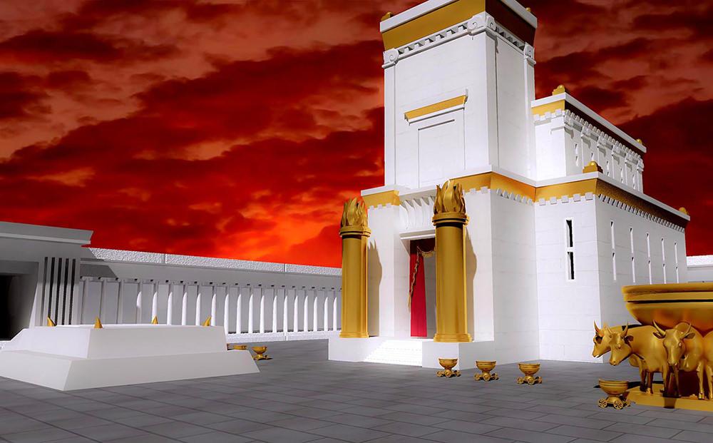 Ilustración gratis del templo de Salomón