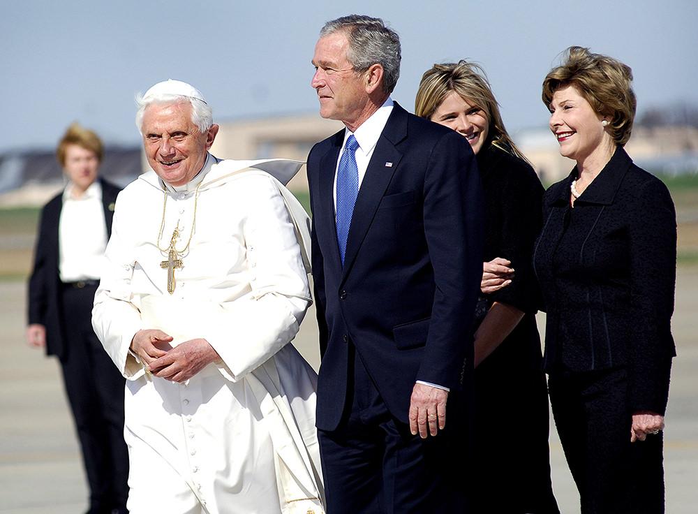 Imagen gratis de papa y George Bush
