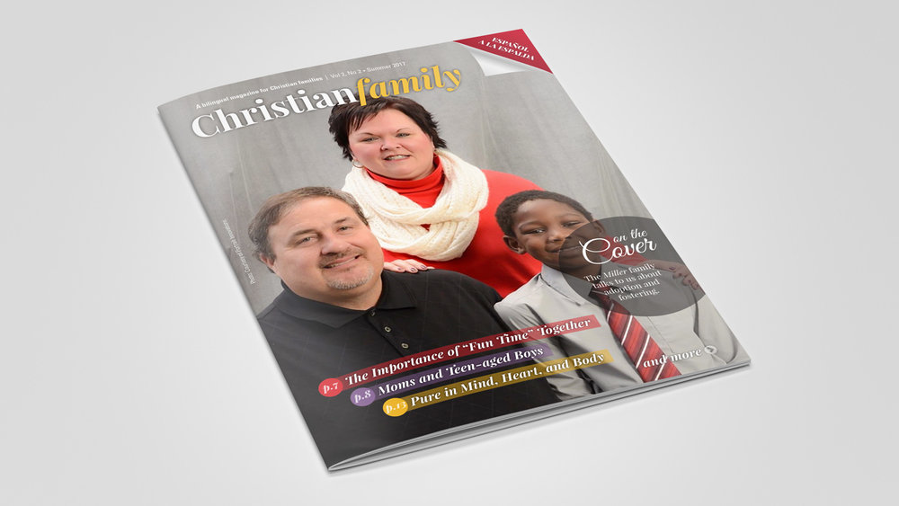Description - Christian Family is a new quarterly bilingual magazine published by EB Global and devoted to family issues from a distinctive biblical perspective. Paul Holland and Moisés Pinedo are the editors of the magazine.