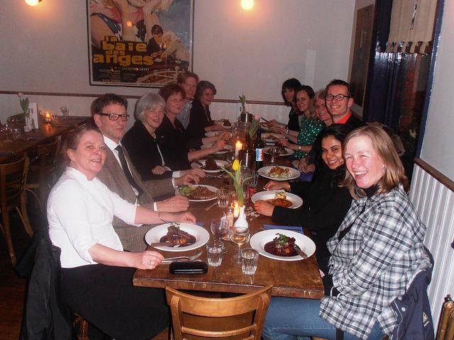 Jaarlijks afdelingsdiner tijdens de studiereis naatr Oxford, 15 maart 2012