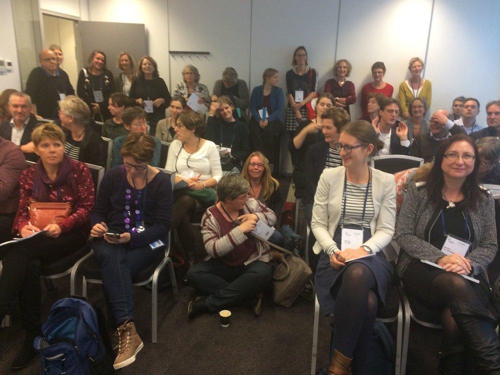 Volle bak bij de presentatie van Hugo Huurdeman (foto: Marjo Bakker)
