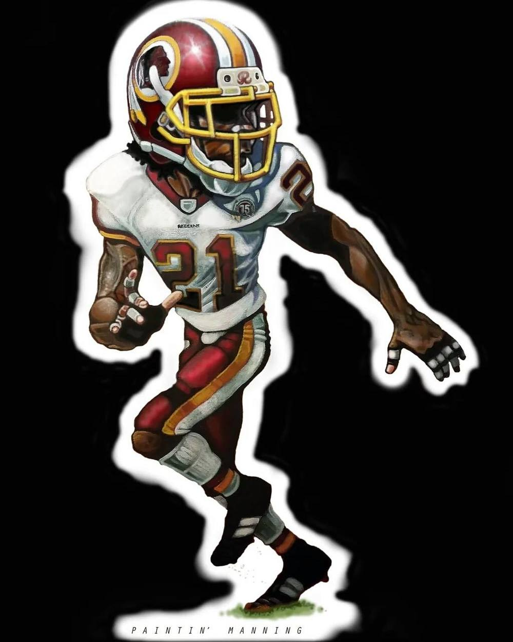 "2016 magnets. Here's my Sean Taylor. Actual size is approximately 7"" x 4""."
