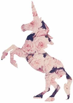 Unicorn wearing roses