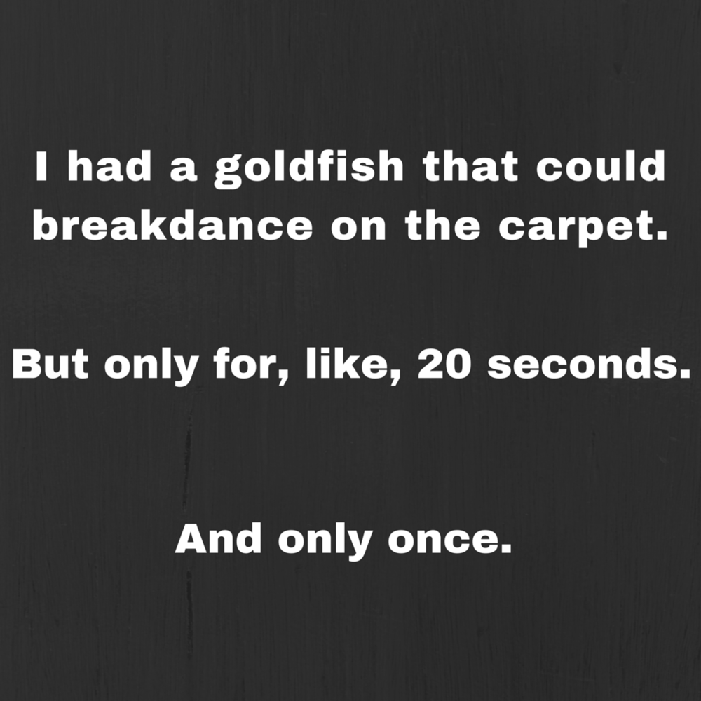 breakdancing goldfish