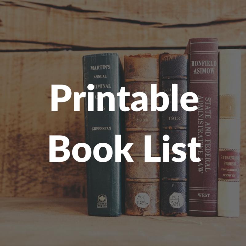 Printable Book List
