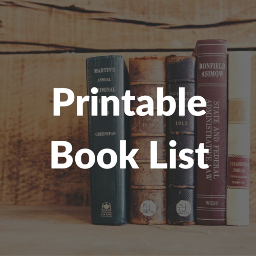 Printable Book List