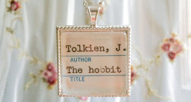 bookish jewelry
