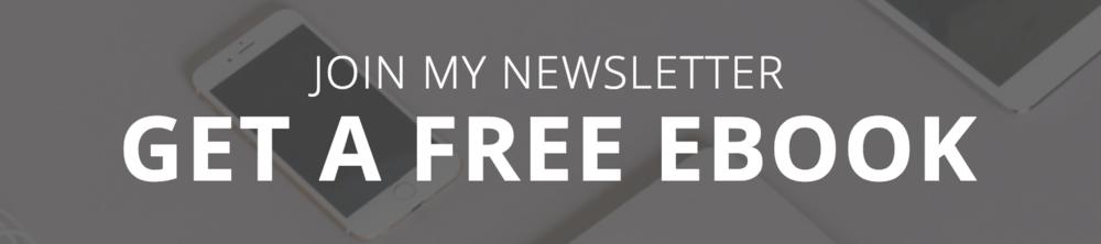 Join My Newsletter banner