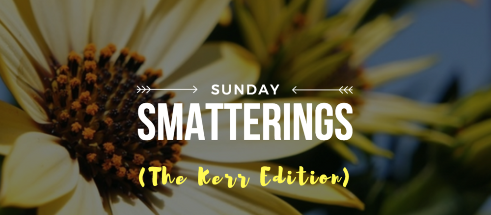 Sunday Smatterings (The Kerr Edition 5.21.17)