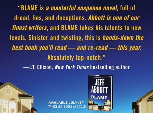 pre-order BLAME by Jeff Abbott