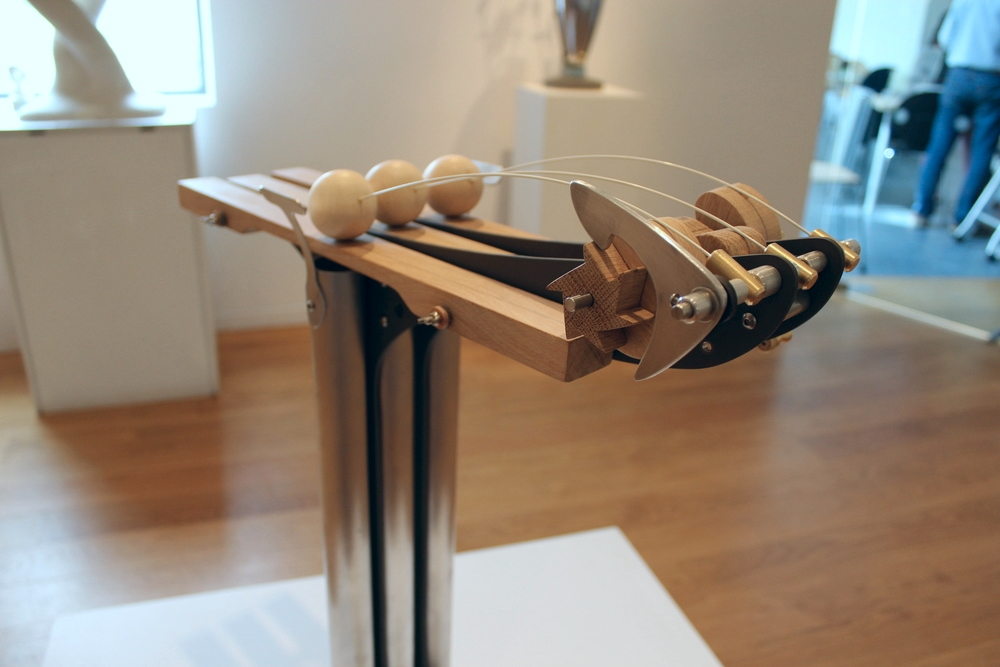 Chirrup sound machine sculpture on display at Sunbury Gallery