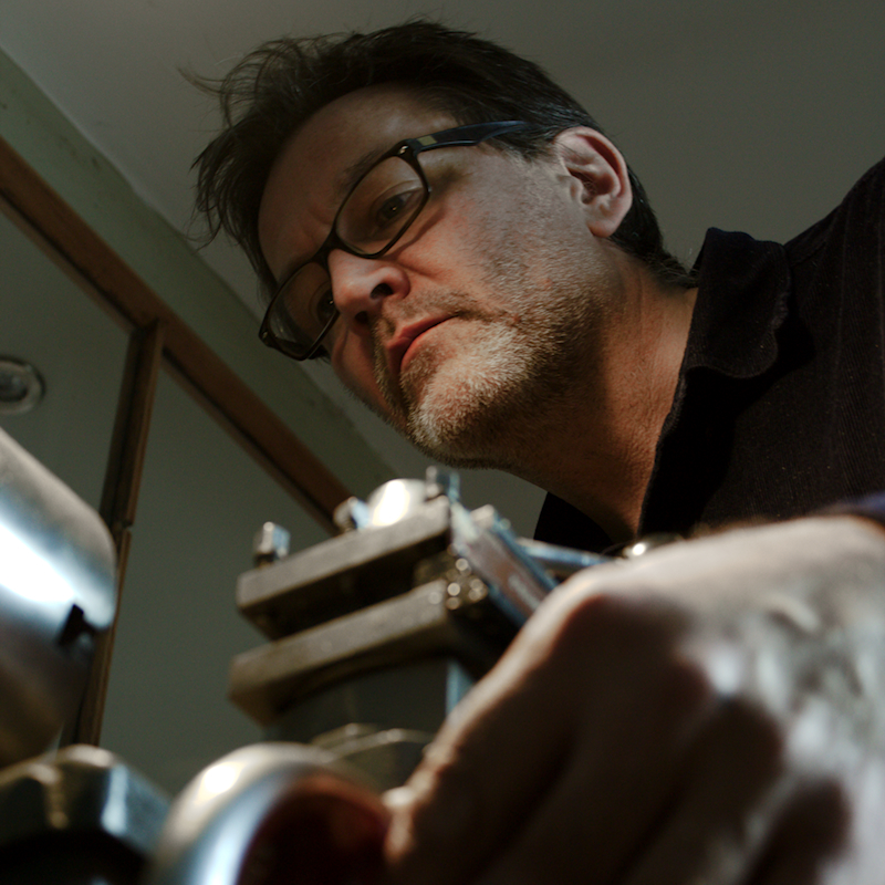 Dan Morrison at work on the BLOTT WORKS lathe.jpg