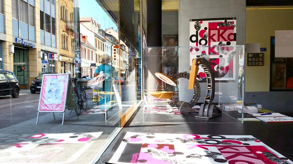 BLOTT WORKS in the window of Architekturschaufenster during Karlsruhe designweek recently. Photo by Duygu Oezdemir.