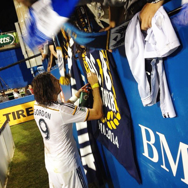 Nice seeing #AlanGordon show love to @ACBrigade supporters after scoring the tying goal for @LAGalaxy.