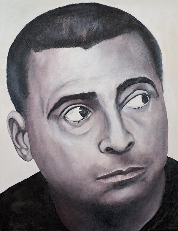 "Romário de Souza Faria. Oil on canvas, 16"" x 20"". Montreal, 2014 by Geneviève Héroux"