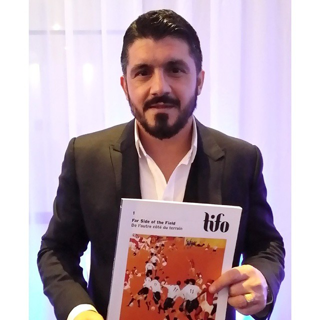 Buon Compleanno #Gattuso. We mildly enjoy this photo more than the classic tighty-whitey shots out there. #legend