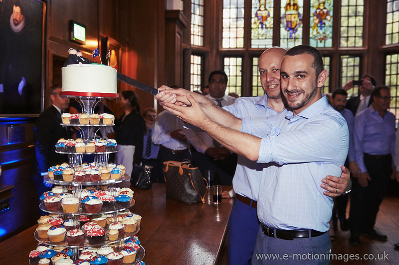 Steven and Alex's wedding at Gray's Inn, London on 6th July 2014.