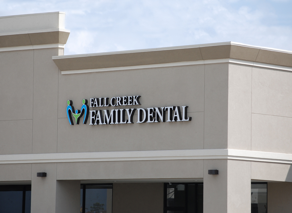 Fall Creek Family Dental Office Sign, Humble Texas - Shot 2