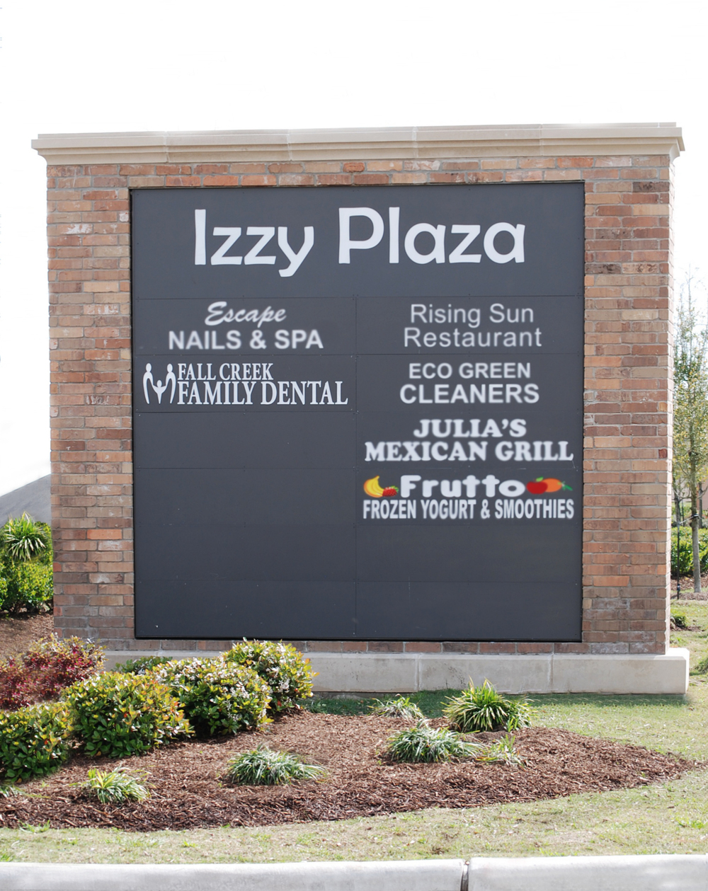 Fall Creek Family Dental Office Sign in Izzy Plaza, Humble Texas